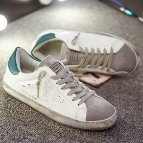 Flat Heel Lace-Up Artificial Leather Casual Flats