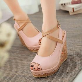 Womens Casual Wedge Heel Pu Sandals