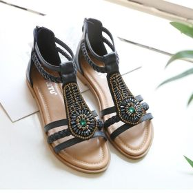 Bohemian Vintage Low Heel Plus Size Roman shoes