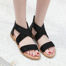 Women Roman Sandals Casual Zippers Shoes