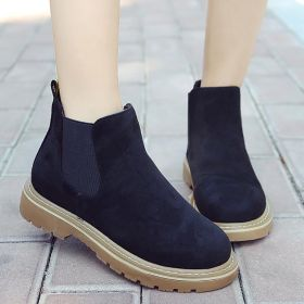 Women Artificial Suede Booties Casual Comfort Ankle Shoes
