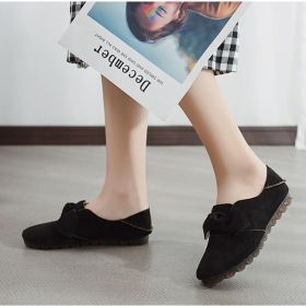 Bowknot Slip On Flat Loafers