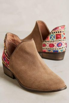 Women's Ankle Middle Heel Pointed Toe Low Booties Leisure Shoes