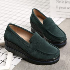 Women Comfortable Suede Slip On Lazy Casual Platform Shoes