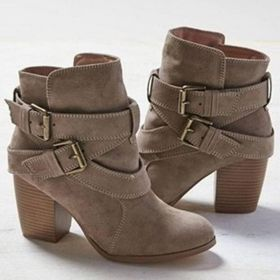Autumn Winter Women Boots Casual Ladies shoes Martin boots Ankle Boots High heeled Zipper Snow boot
