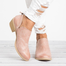 Large Size Women Chunky Heel Shoes