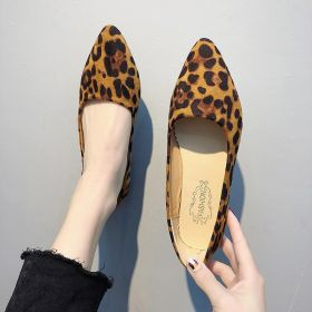Women's Spring Casual Pointed Toe Leopard Flats