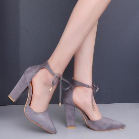Pointed Toe Suede Women's Lace-Up Pumps
