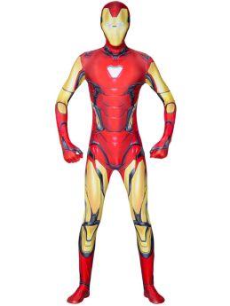 Avengers Iron Man Cosplay Zentai Jumpsuits Kids Adult Halloween Costume
