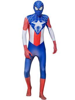 Kids Adult 3D Printed Spider-Man Captain America Cosplay Halloween Costume Jumpsuit Zentai