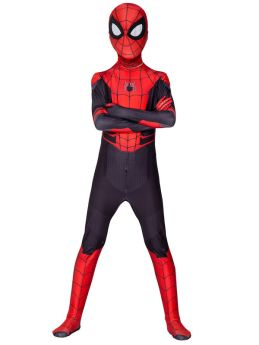 Kids Adult Spiderman Far From Home Cosplay Costume Red Zentai Jumpsuit