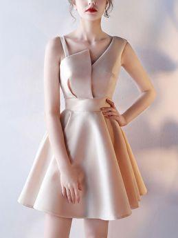 Short Bridesmaid Dress Summer Sleeveless Camisole Evening Prom Gowns Dress