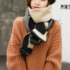 New Fall Winter Plaid Color Block Scarves Shawl for Women