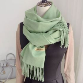 Womens Solid Color Shawl Scarf with Tassels