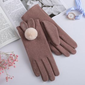 Winter Cute Warm Touchscreen Ourtdoor Soft Lining Gloves for Women