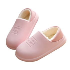 Winter Waterproof Non-slip Warm Indoor Outdoor Soft  House Slippers Shoes For Men and Women