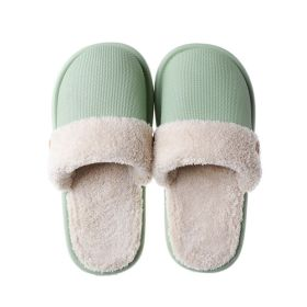 Autumn Winter Warm Plush Removable and Washable EVA Waterproof Non-slip Comfort House Slippers