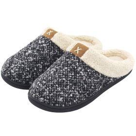 Fall Winter Men Womens Warm Slippers Memory Foam Comfy House Shoes