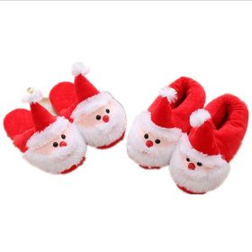Winter Cute Santa Claus Cartoon Warm Home Shoes Red House Slippers for Women Men