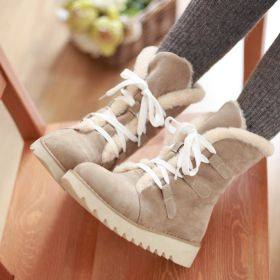 Non-slip Women Lace-up Warm Snow Boots