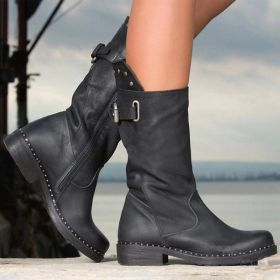 Buckles Zipper Ankle Boots for Women