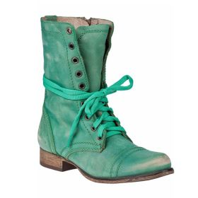 Womens Low Heel Lace-up Ankle Boots