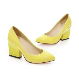Spring Pointed Toe Shoes High Chuky Heel Pumps