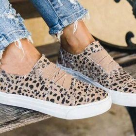 Women's Shoes Flat Leopard Print Casual Round Toe Loafers
