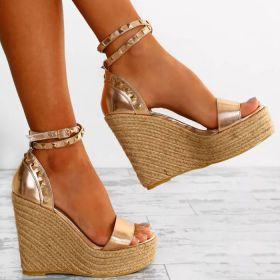 Summer High Wedge Heel Open Toe Platform Sandals for Women