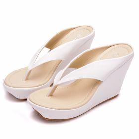 Womens Sliders Flip Flops Wedge High Heel Platform Sandals