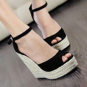 Summer Wide Fit Platform Wedge Sandals  for Women