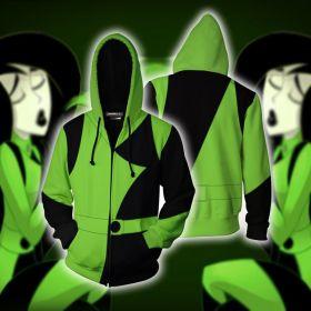Green Kim Possible Shego Cosplay Printing Adult Hoodies
