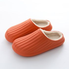 Womens Winter Waterproof House Slippers Non-slip Warm Soft Light Home Shoes for Men