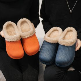 Womens Mens Warm Comfort Waterproof Non-slip House Shoes Winter Slippers