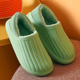 Winter Warm Waterproof Non-slip Home Slippers Indoor Outdoor Soft House Shoes For Men Women