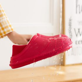 Womens Mens Winter Non-slip House Shoes Soft Light Waterproof Indoor Outdoor Warm Slippers