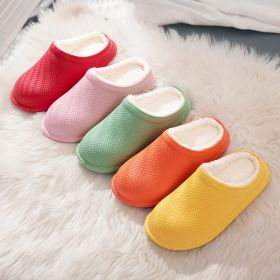 Winter Comfy Soft Warm Solid House Shoes Waterproof Non-slip Indoor Slippers for Men Women