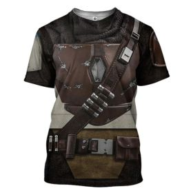 Star Wars The Mandalorian Cosplay 3D Printing Short Sleeve T-shirt for Adult