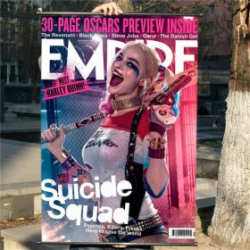 DC Suicide Squad Harley Quinn Poster Art Silk Fabric Poster Decor With Hanging Scrolls