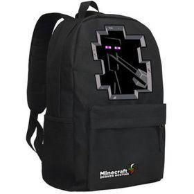 Minecraft SEnderman Logo Backpack Cosplay School Bag