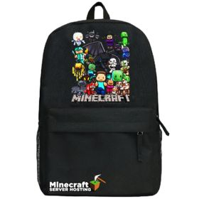 Minecraft Family Logo Backpack School Bag