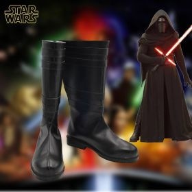 Star Wars The Force Awakens Kylo Ren Ben Solo Black Cosplay Shoes Boots