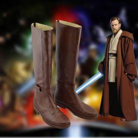Star Wars Jedi Obi-Wan Kenobi Brown Cosplay Shoes Boots