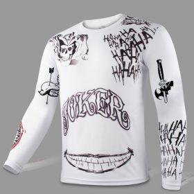 DC Suicide Squad Joker Sport Tight Tops White Long T-shirt