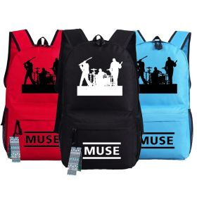 United Kingdom Muse Rock Band Logo School Bag Backpack