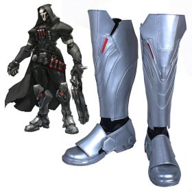 Overwatch OW Reaper Shoes Cosplay Boots