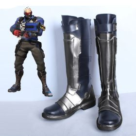 Overwatch Soldier 76 Halloween Shoes Cosplay Boots