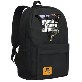 Grand Theft Auto 5 Backpack School Cool Bag