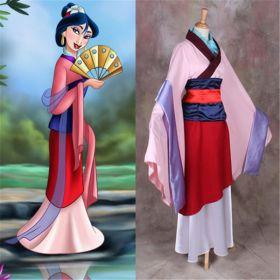Disney Princess Hua Mulan Halloween Party Dress Cosplay Costume