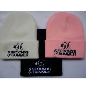 SOS 5 Seconds of Summer Logo Beanies Cap Cosplay Hat